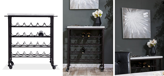 Add a wine or bar cart to your dining room | Bob's Discount Furniture