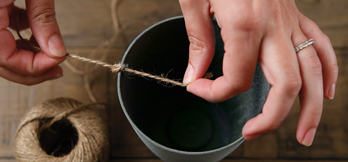 Attach string to the containers | Bob's Discount Furniture