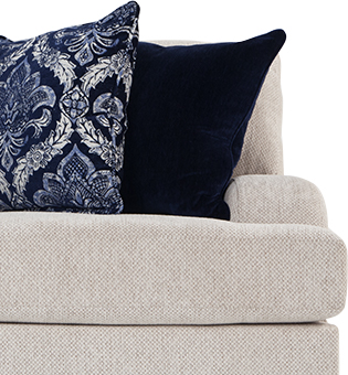 The English arm is traditionally a formal silhouette that has a low-lying arm | Bob's Discount Furniture