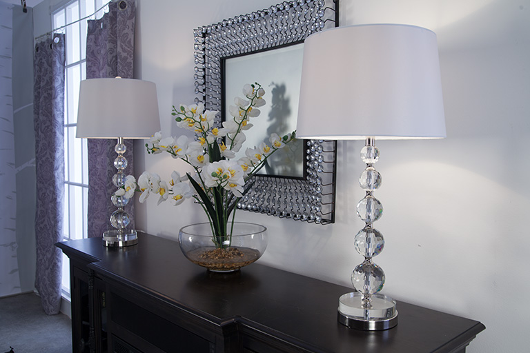 Reflective surfaces like mirrors help create that Hollywood look   Bob's Discount Furniture