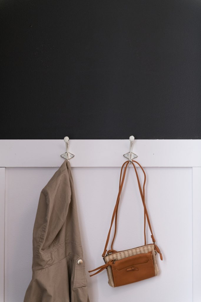 Wall hooks provide storage space for coats and bags   Bob's Discount Furniture