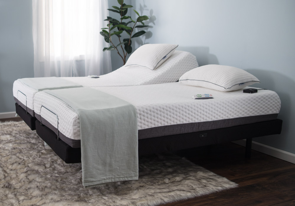 Two Twin XL Adjustable Base Beds Placed Side-by-Side   Bob's Discount Furniture