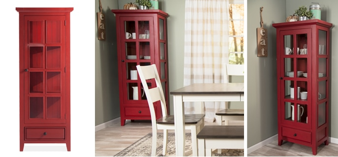 Add a cabinet for extra space in your farmhouse inspired room | Bob's Discount Furniture