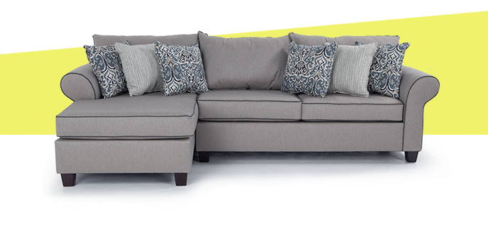Ashton Khaki 2 piece right arm facing sectional | Bob's Discount Furniture