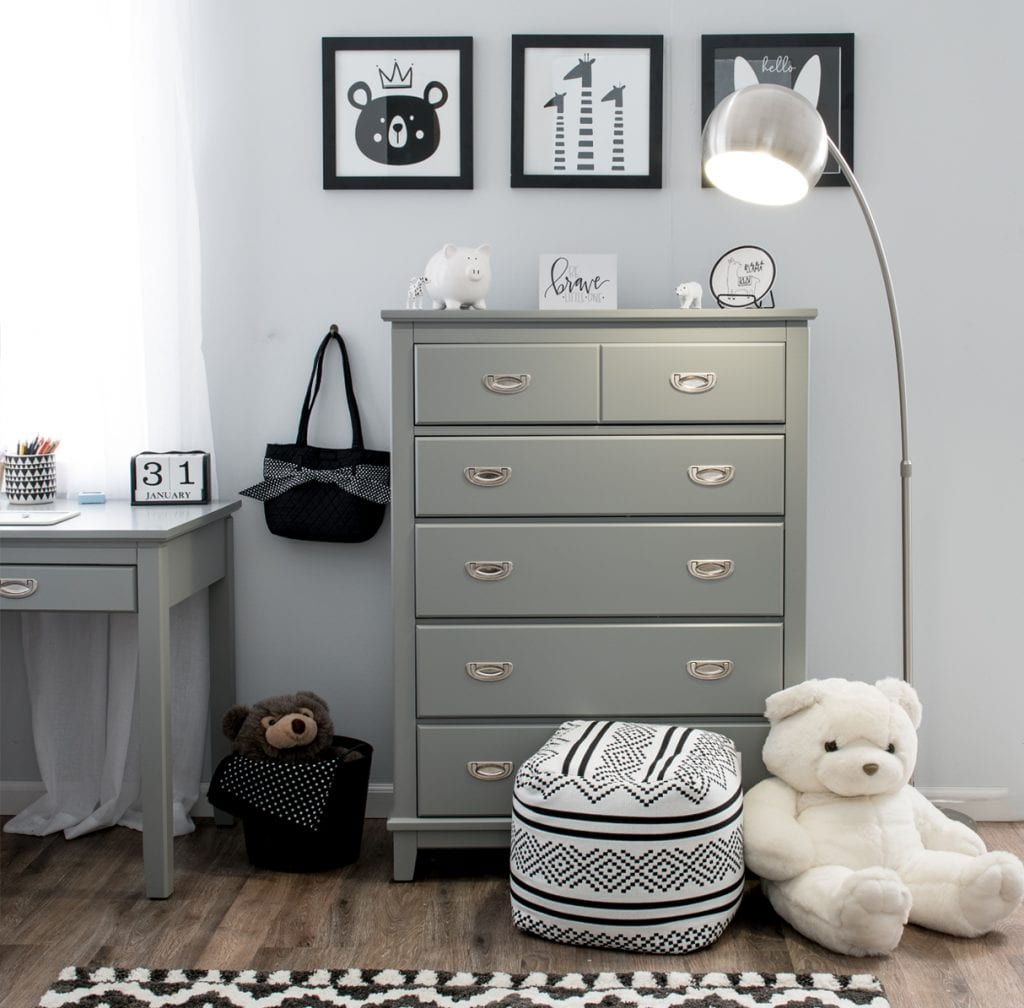 Select a tall chest to maximize space in a small kids' bedroom | Bob's Discount Furniture