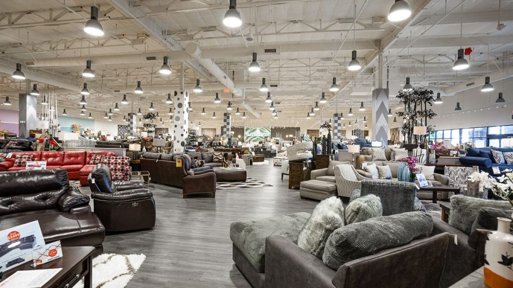 Interior view of the Bell Gardens store | Bob's Discount Furniture