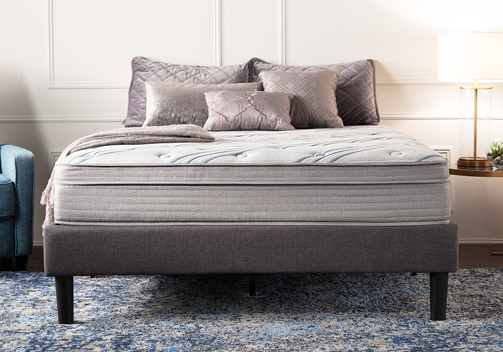 Whether you choose an extra firm or ultra plush top, the Synergy Mattress provides the best in comfort | Bob's Discount Furniture