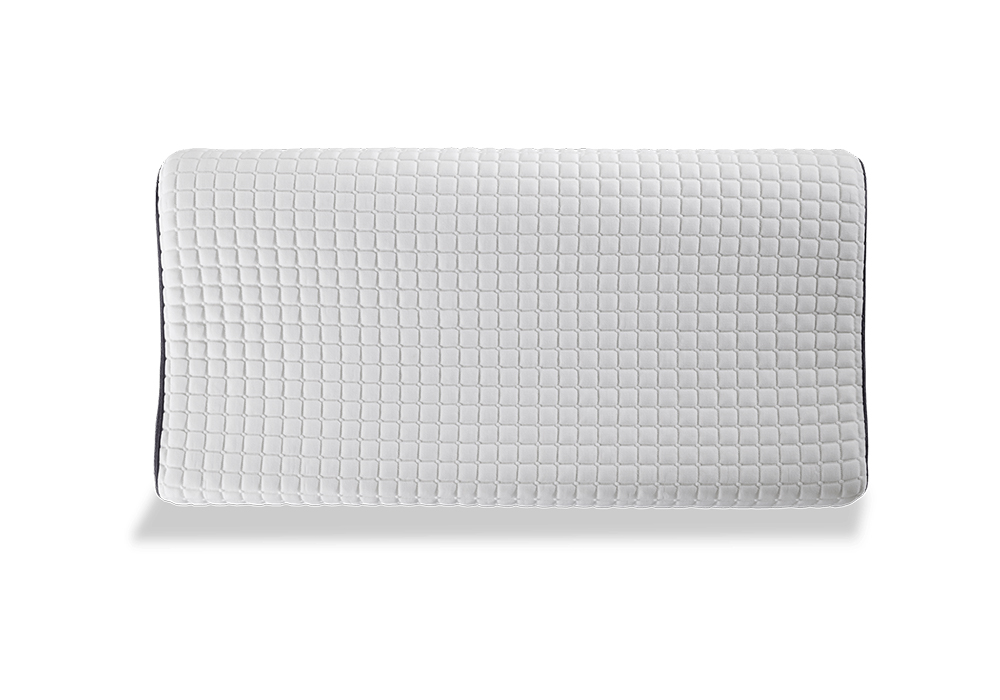 The Bob-O-Pedic Health pillow curves upward to support your neck | Bob's Discount Furniture