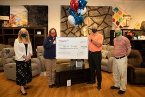Special Olympics 2020 Check Presentation at Bob's Discount Furniture
